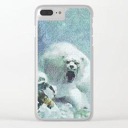 Scaring bear - 吓唬马 Clear iPhone Case