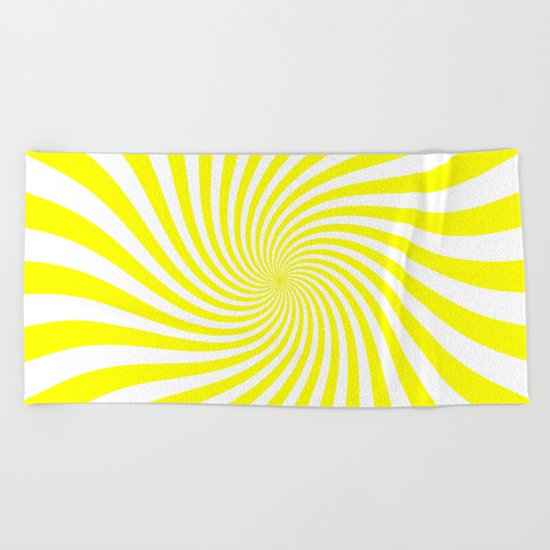 Swirl (Yellow/White) Beach Towel