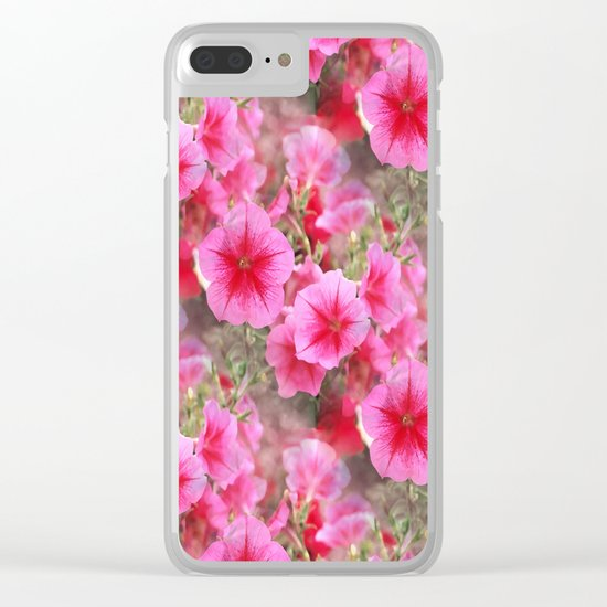 Love of Petunias.... Clear iPhone Case