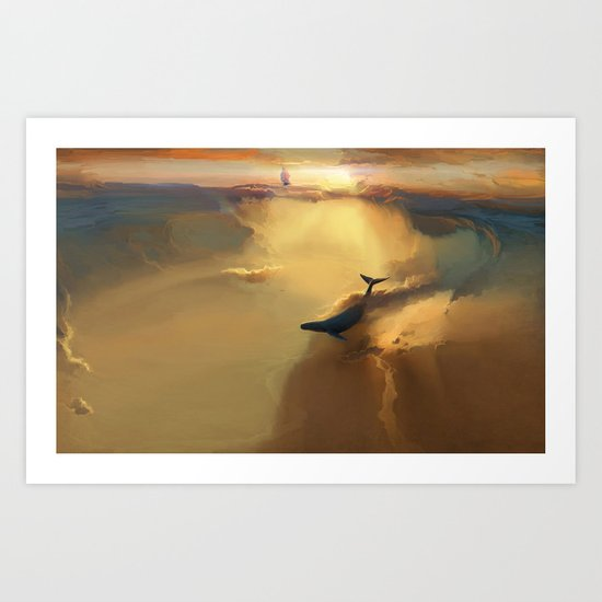 In the sea of gold Art Print