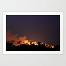 Bush fire  Art Print