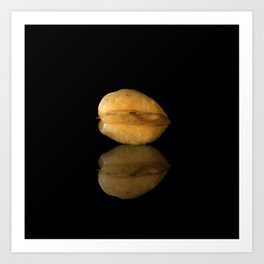 Star Fruit with Reflection Art Print