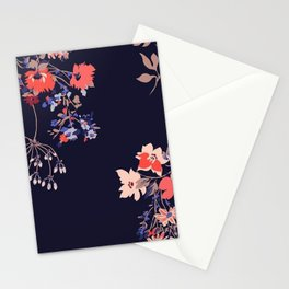 Colorful Night Roses Stationery Cards