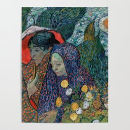Memory of the Garden at Etten (Ladies of Arles) Poster