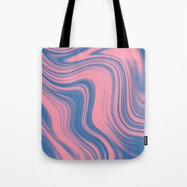 Liquid pink and blue Tote Bag