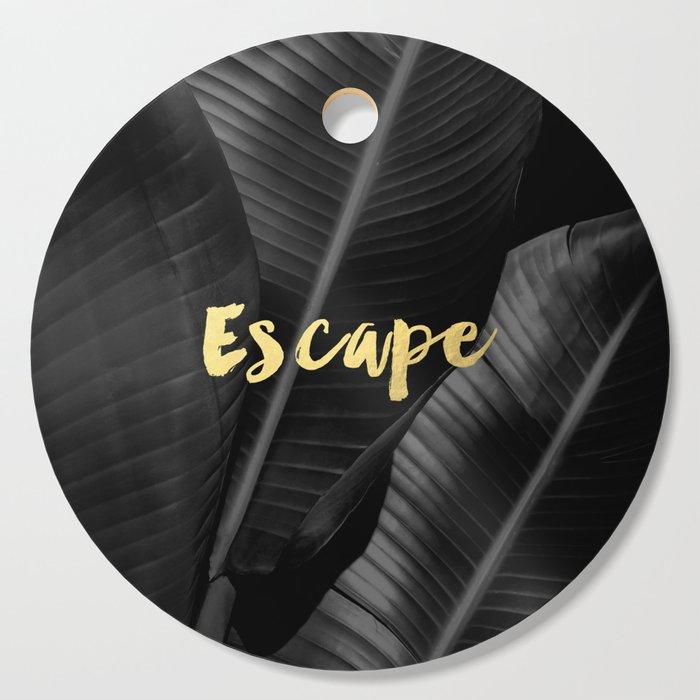 Escape - gold Cutting Board