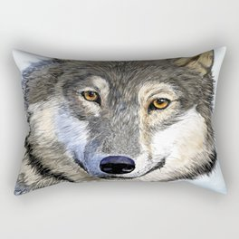 Eyes of the Wolf Rectangular Pillow