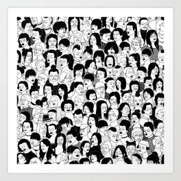 Girlz Art Print