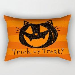 Trick or Treat? Halloween cat lady Rectangular Pillow
