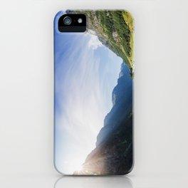 Sunrise over Fjord Village iPhone Case