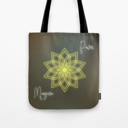 Solar plexus chakra balancing mandala Tote Bag