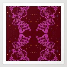 Pink Cluster Art Print