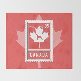 CANADA WEIM STAMP Throw Blanket