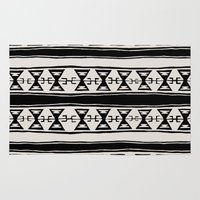 kilim Area & Throw Rugs featuring Cleveland 6 by Little Brave Heart Shop