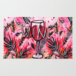 Ode to a red wine Rug