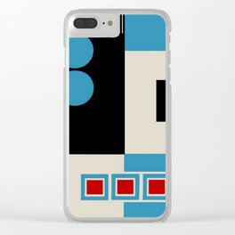Abstract in Blue, Black, Red and Beige. See Companion Piece Clear iPhone Case