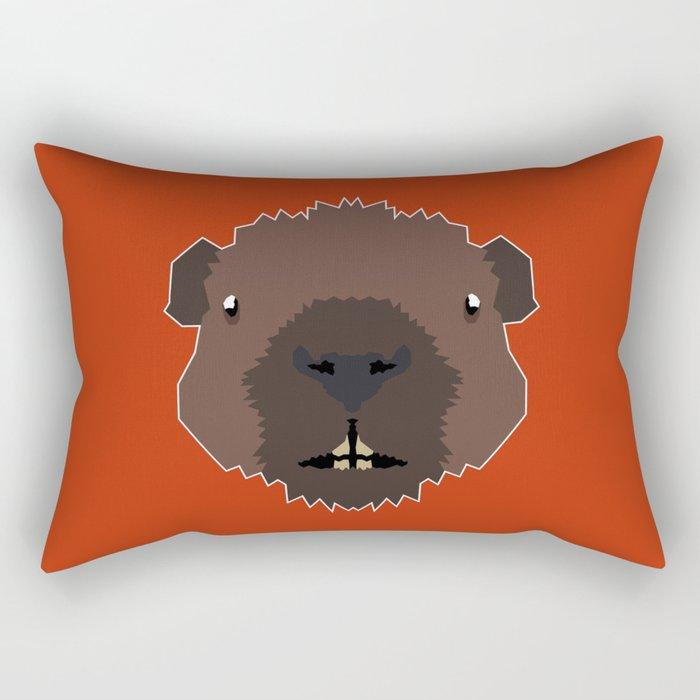 The Brave Beaver Rectangular Pillow