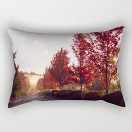 Fall Sunrise in the Fog Rectangular Pillow