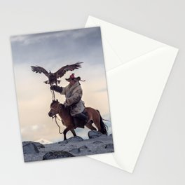 Kazakh Eagle Hunter Stationery Cards