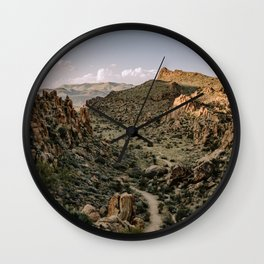 Balanced Rock Valley View in Big Bend - Landscape Photography Wall Clock
