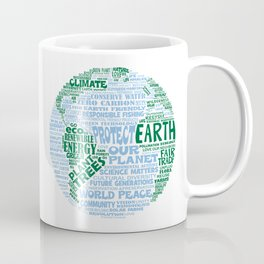 Protect Earth Word Bubble Coffee Mug