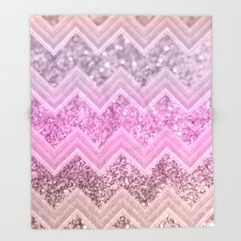 Unicorn Glitter Chevron #2 #shiny #decor #art #society6 Throw Blanket