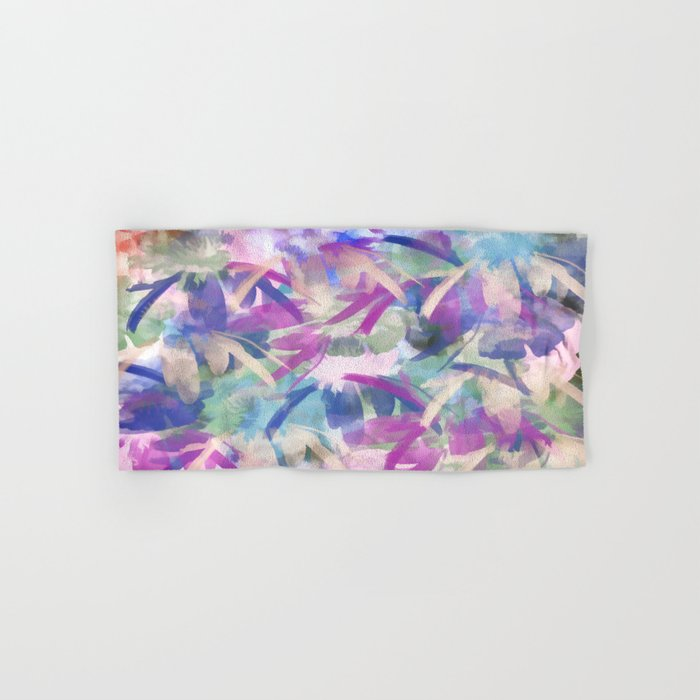 Pastel Floral Extravaganza Abstract Hand & Bath Towel