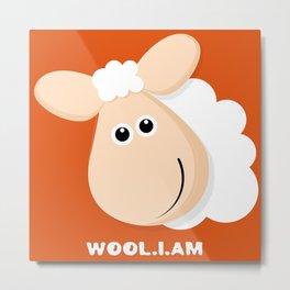 Wool.i.am Metal Print