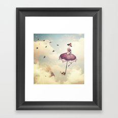 Spring Lady Framed Art Print