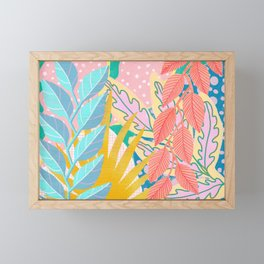 Modern Jungle Plants - Bright Pastels Framed Mini Art Print