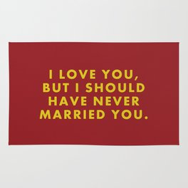 "Fantastic Mr Fox - ""I love you but I should have never married you."" Rug"