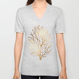 Gold Coral Unisex V-Neck