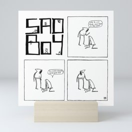 Sadboy Comic Strip #003 Mini Art Print