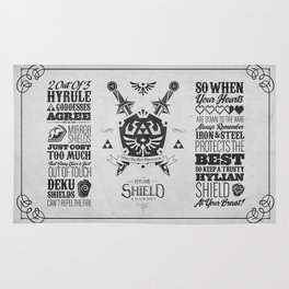 Legend of Zelda - The Hylian Shield Foundry Rug