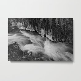 Icicles Along the Waterflow Metal Print