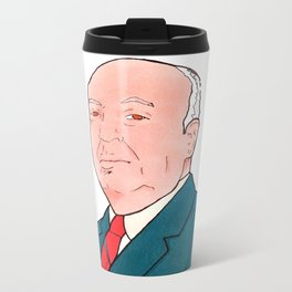 Alfred Hitchcock Metal Travel Mug
