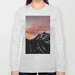 Pink Sky - Cascade Mountains - Nature Photography Long Sleeve T-shirt