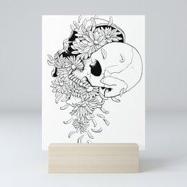 Skull (Pushing Up Daisies) Mini Art Print