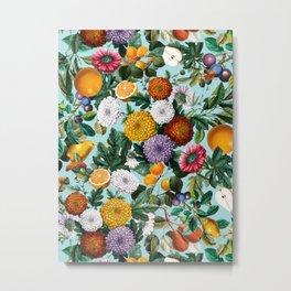 Summer Fruit Garden Metal Print