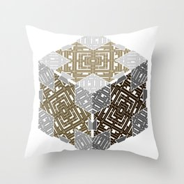 D6 Cube of the Dwarven King Throw Pillow