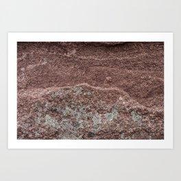 Sandstone Texture Art Print