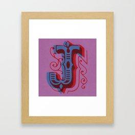 100 Days of Hybrid Type: J Framed Art Print