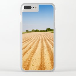 Ploughed agriculture field empty Clear iPhone Case