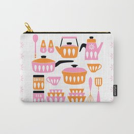 My Midcentury Modern Kitchen In Pink And Tangerine Carry-All Pouch