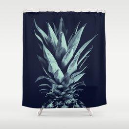 Navy Blue Pineapple Dream #1 #tropical #fruit #decor #art #society6 Shower Curtain