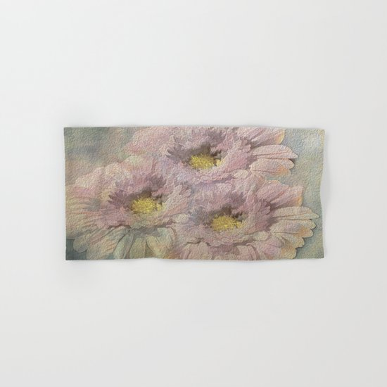 Soft Painted Daisies Abstract Hand & Bath Towel