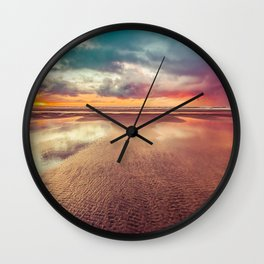 Beach Love Ocean Sunset Wall Clock