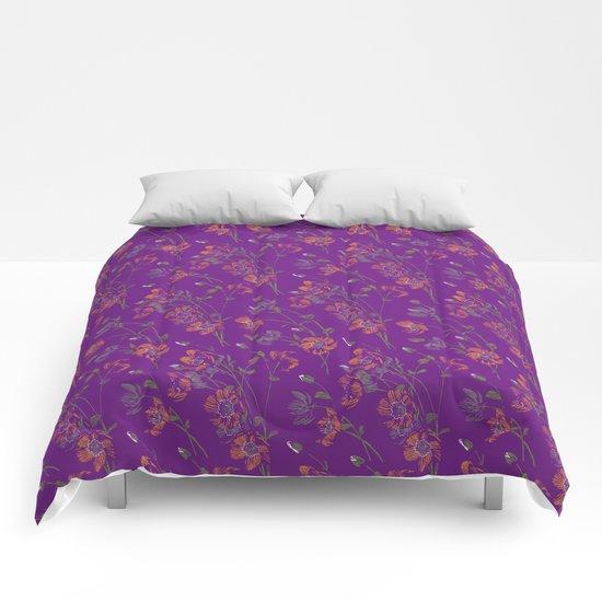 Poppy Floral - Purple by meganpalmer