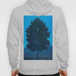Rene Magritte - Le Seize Septembre - 1956 Moon Through Tree Surrealism Hoody