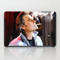 quentin tarantino iPad Cases featuring Kurt Russell as Stuntman Mike McKay in the film Death Proof (Quentin Tarantino - 2007) by Gabriel T Toro